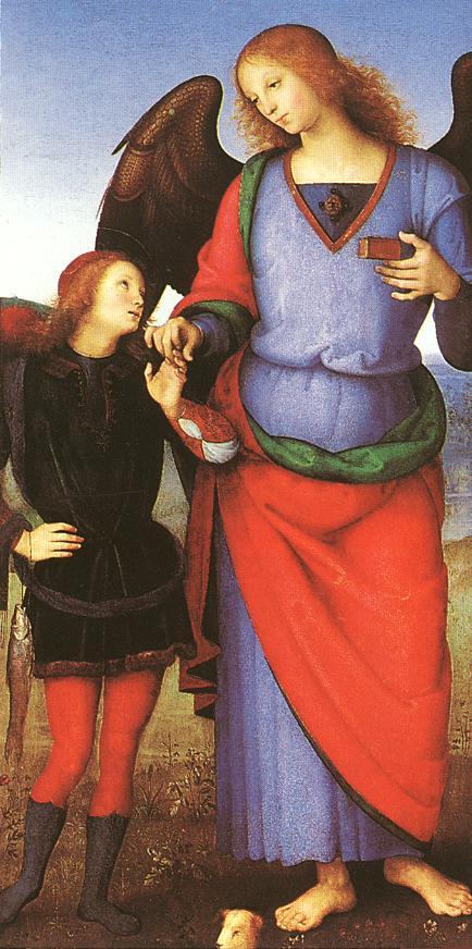 Tobias and St. Raphael - Pietro Perugino