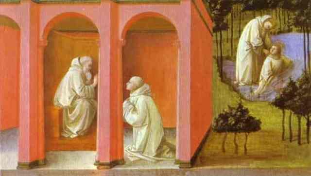 St. Benedict orders St. Maurus to the rescue of St. Placid