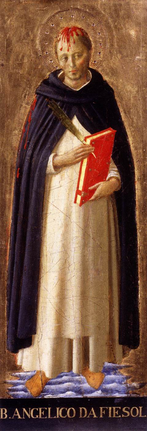 St. Peter Martyr by Fra Angelico - Tempera on wood, 1340-45
