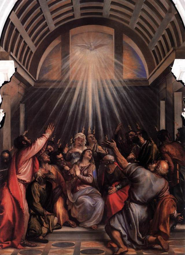 The Descent of the Holy Ghost - TIZIANO Vecellio