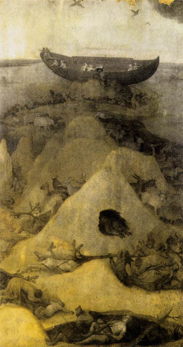 Noah's Ark on Mount Ararat by Hieronymus Bosch